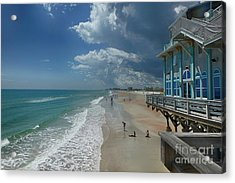 View From The Pier Acrylic Print by Judy Hall-Folde