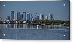 View From The Port Acrylic Print by Chauncy Holmes