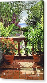 View From The Royal Garden Acrylic Print by David Lloyd Glover