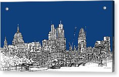 View From The Southbank With Summer Blue Skies Acrylic Print
