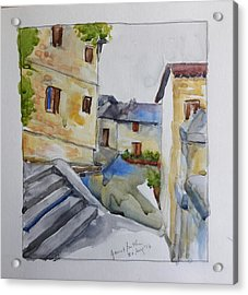 View From The Steps  Acrylic Print by Janet Butler