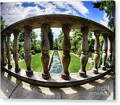 View From The Summer Garden Acrylic Print by Mark Miller