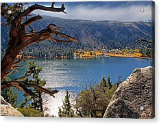 Acrylic Print featuring the photograph View From The Top Of June Lake by Donna Kennedy