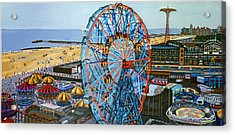 View From The Top Of The Cyclone Rollercoaster Acrylic Print