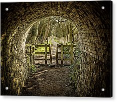 View From The Tunnel Acrylic Print