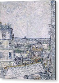 View From Vincent's Room In The Rue Lepic Acrylic Print by Vincent van Gogh
