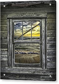 View From Weathered Beach Cottage Acrylic Print