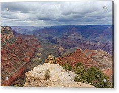 Acrylic Print featuring the photograph View From Yaki Point by Beverly Parks