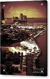 View From The 23rd Floor Acrylic Print by Maria Arango