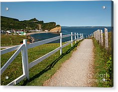 Acrylic Print featuring the photograph View In Perce Quebec by Elena Elisseeva