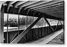 View Inside Covered Bride Black And White Acrylic Print by Jeanne OConnor