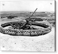 View Of A 90mm Aaa Gun Emplacement Acrylic Print