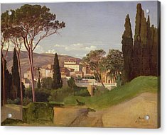 View Of A Villa Acrylic Print by Jean Achille Benouville