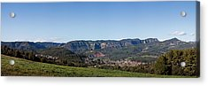 View Of A Village In Valley, Santa Acrylic Print by Panoramic Images