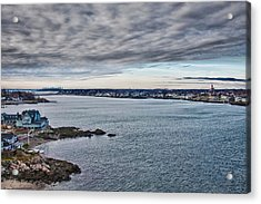 View Of Abbot Hall From Marblehead Lighthouse Acrylic Print