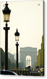 View Of Arc De Triomphe Acrylic Print
