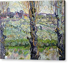 View Of Arles Acrylic Print by Vincent Van Gogh