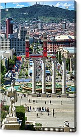 Acrylic Print featuring the photograph View Of Barcelona From Montjuic by Eduardo Jose Accorinti