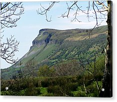 View Of Benbulben From Glencar Lake Ireland Acrylic Print by Teresa Mucha