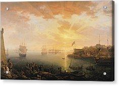 View Of Brest Harbor Acrylic Print