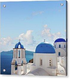 Caldera  Of Santorini Acrylic Print