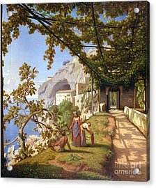 View Of Capri Acrylic Print by Theodore Aligny