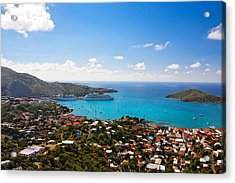 View Of Charlotte Amalie St Thomas Us Virgin Islands Acrylic Print by George Oze