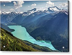 Acrylic Print featuring the photograph View Of Cheakamus Lake From The High Note Trail by Pierre Leclerc Photography