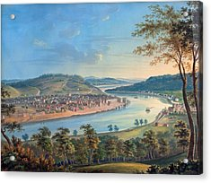Acrylic Print featuring the painting View Of Cincinnati From Covington by John Caspar Wild