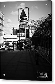 View Of Citgo Sign From David Ortiz Bridge, Boston, Massachusetts Acrylic Print