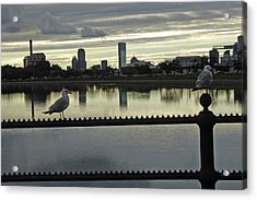 View Of City Of Boston From Castle Island Acrylic Print