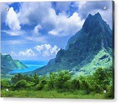 View Of Cook's Bay Mo'orea Acrylic Print