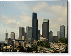 View Of Downtown Acrylic Print by Sonja Anderson