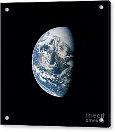 View Of Earth Taken From The Apollo 13 Acrylic Print by Stocktrek Images