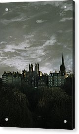 view of Edinburgh Acrylic Print by Cambion Art