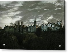 view of Edinburgh II Acrylic Print by Cambion Art