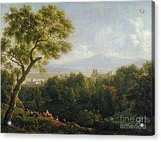 View Of Frascati Acrylic Print by Jean Bidauld