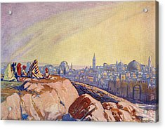 View Of Jerusalem, Palestine Seen From Acrylic Print