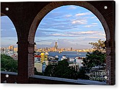 Acrylic Print featuring the photograph View Of Kaohsiung City At Sunset Time by Yali Shi