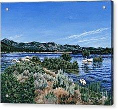 View Of Lake Hemet Acrylic Print