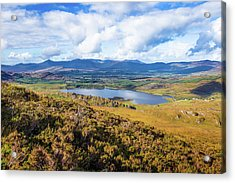 View Of Lough Acoose In Ballycullane From The Foothill Of Macgil Acrylic Print by Semmick Photo