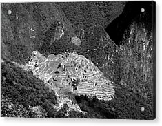 View Of Machu Picchu From The Inca Trail Acrylic Print