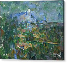View Of Montagne Sainte Victoire From Lauves Acrylic Print