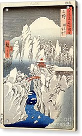 View Of Mount Haruna In The Snow Acrylic Print by Hiroshige