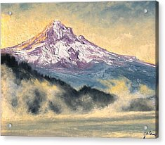 View Of Mt Hood Acrylic Print by Jim Gola