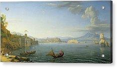 View Of Naples Acrylic Print by Adrien Manglard