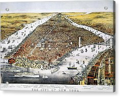 View Of New York, 1876 Acrylic Print by Granger
