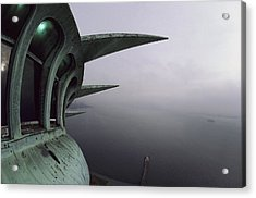 View Of New York Harbor From The Top Acrylic Print by Paul Chesley