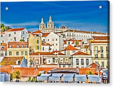 View Of Old Alfama Acrylic Print by Julie Palencia