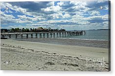 View Of Pier. Fisherman's Beach, Swampscott, Ma Acrylic Print